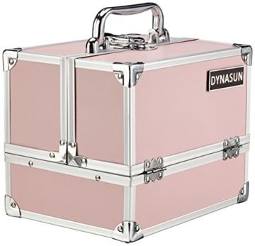 DynaSun ALU Design Beautycase Schmuckfach Schminkkoffer Kosmetikkoffer, 24 cm, Pink -