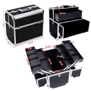 Songmics® Beauty Case kosmetikkoffer Schminkkoffer Make up Nail Tech Cosmetic Case 36,5 x 22 x 35 cm JBC229B -