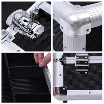 Songmics® Kosmetikkoffer XXL groß für Gepäck 36,5 x 22 x 25 cm Alu, Schwarz JBC228 -