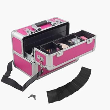 Aluminium-Multikoffer Etagenkoffer Pink - 201504 -