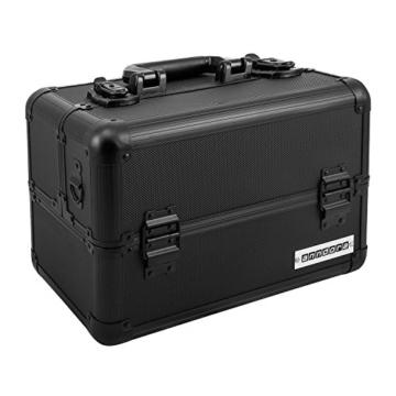 anndora Beauty Case 20 Liter Schwarz Multikoffer Etagenkoffer Transportkoffer -