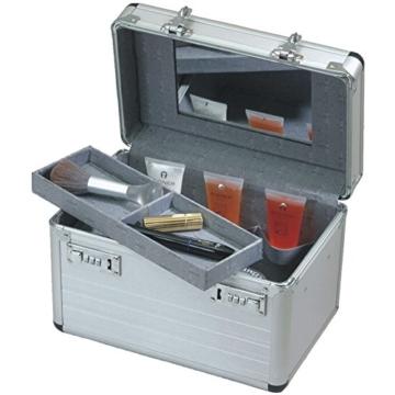 Beautycase Schminkkoffer Kosmetikkoffer Aluminium silber 49007 -