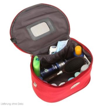 BEAUTYCASE SPEAR Kulturtasche Schminkkoffer Kosmetikkoffer mit Schultergurt 531 ROT -