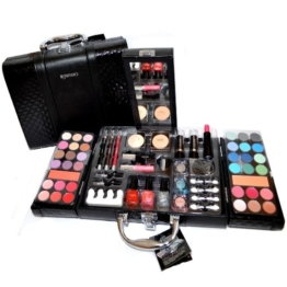 Exclusive Kosmetik Make-up Kunstleder Beautycase SCHMINKKOFFER 63 teilig (e797) -
