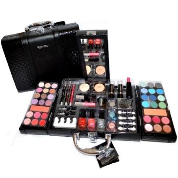 Exclusive Kosmetik Make-up Kunstleder Beautycase SCHMINKKOFFER 63 teilig (e797) -