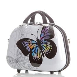 Kosmetikkoffer 2060 Hartschalen Beautycase Butterfly -