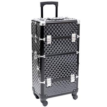 Songmics® Trolley make up Kosmetikkoffer Nail Art Koffer Box Schmuckständer Nagellack Gegenstände JHZ04B -