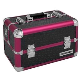 anndora Beauty Case Kosmetikkoffer Schminkkoffer Werkzeugkoffer Schwarz Rot Karo - 1