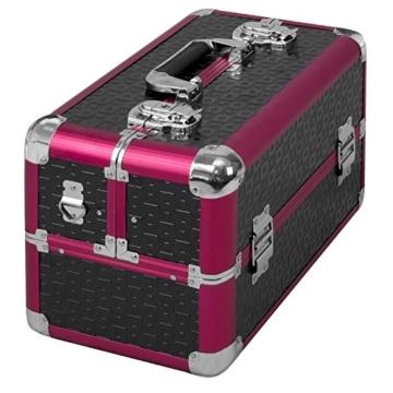 anndora Beauty Case Kosmetikkoffer Schminkkoffer Werkzeugkoffer Schwarz Rot Karo - 4