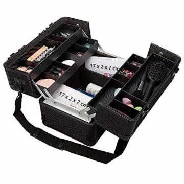 anndora Beauty Case Kosmetikkoffer Schmuckkoffer 21 L - Alu schwarz Renaissance - 5